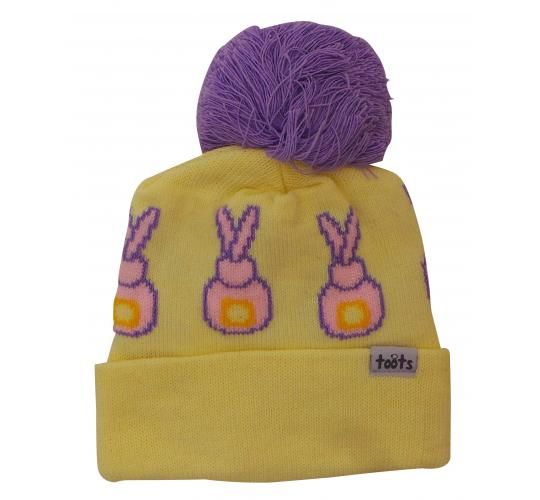 One Off Joblot of 15 Ladies Toots Yellow Rabbits Beanie Hats