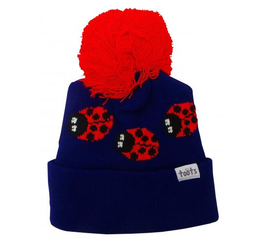 Wholesale Joblot of 10 Toots Purple Ladybugs Beanie Hats