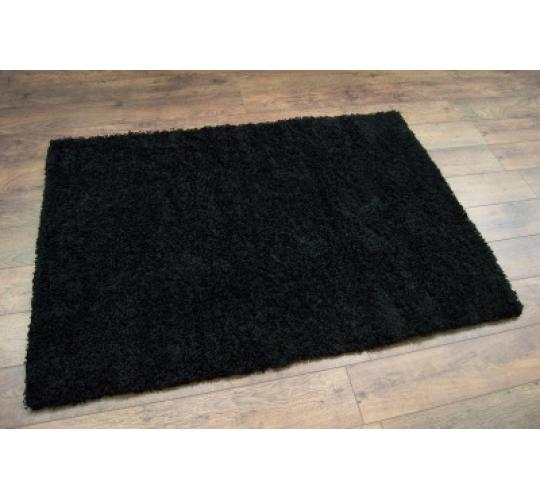 10x Black Shaggy Rugs 120 x 170cm (4ft x 5ft 7in)