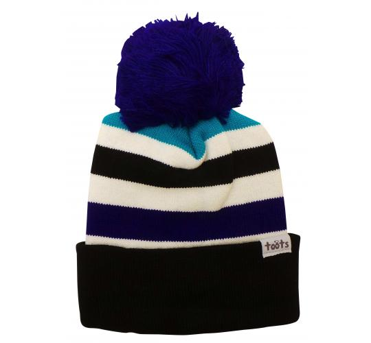 Wholesale Joblot of 10 Ladies Toots Thick Stripes Turquoise Beanie Bobble Hats