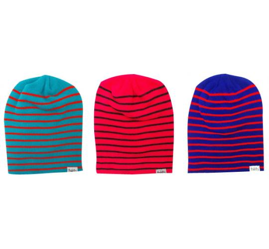 Wholesale Joblot of 10 Toots Unisex Fine Stripes Beanie Hats 3 Colours