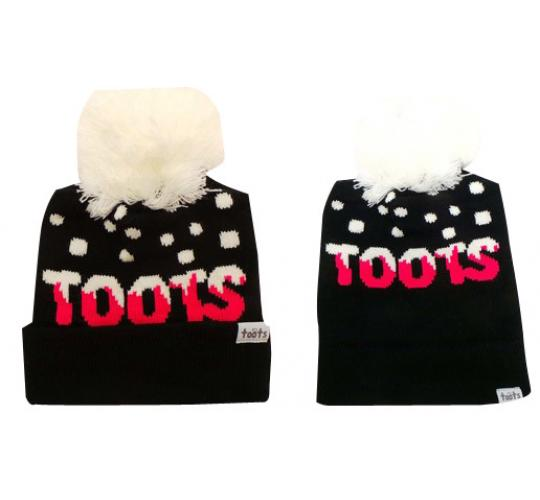 Wholesale Joblot of 10 Toots Ladies Pink Logo Pom Beanie Hats Regular/Long
