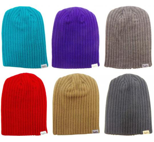Wholesale Joblot of 10 Toots Unisex Ribbed Beanie Hats Mixed Colours