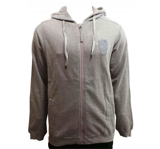 One Off Joblot of 15 Disturbing London Mens Grey Silhouette Zip Hooded Sweat