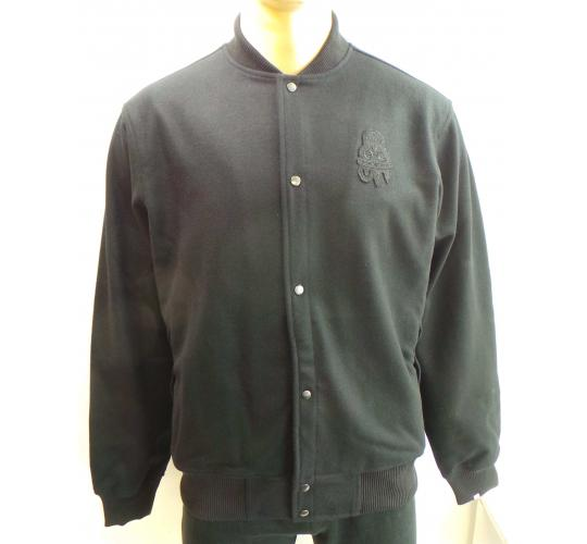Wholesale Joblot of 5 Disturbing London Mens Inverted Stadium Jackets Black