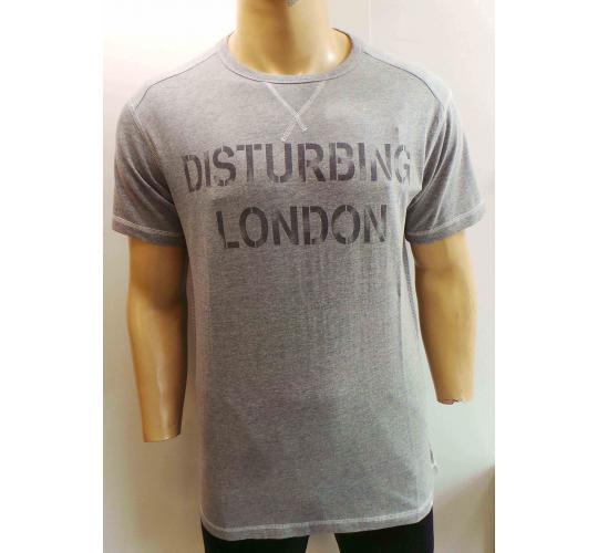 Wholesale Joblot of 20 Disturbing London Mens Grey Marl Vintage T-Shirts