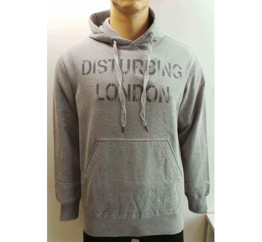 Wholesale Joblot of 10 Disturbing London Mens Grey Marl Vintage Hoodies