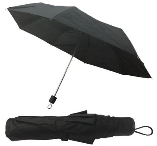 Ladies Black Mini Hand Bag Umbrella