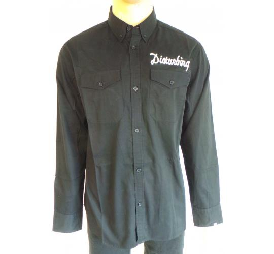 Wholesale Joblot of 10 Disturbing London Mens Black Chain Shirts M-XL