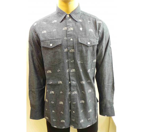 Wholesale Joblot of 10 Disturbing London Mens Icon Shirt Washed Indigo