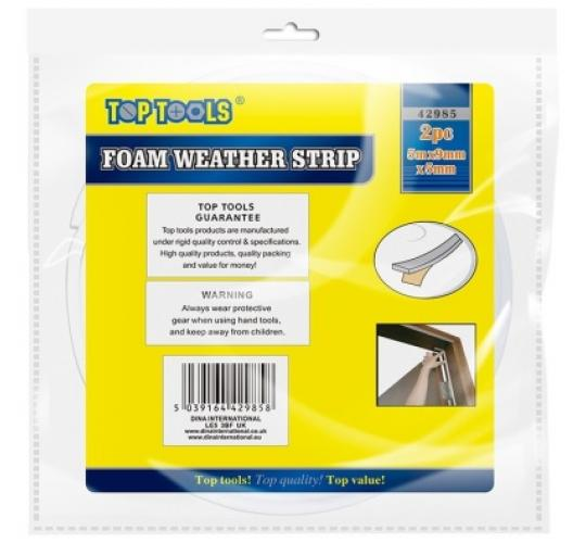2pc Foam Weather Draught Insulation Strip