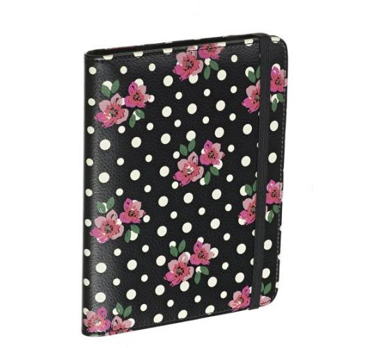Wholesale job lot 80 x Ex-High-street Kindle Covers Black Polka Dot Floral Design NEW