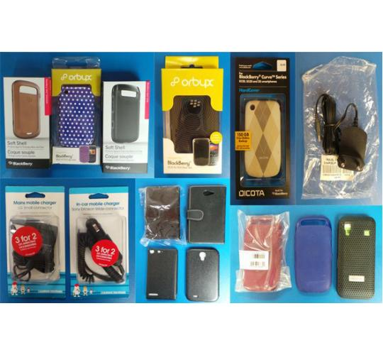 Pallet Of 3615 Assorted Mobile Phone Cases, Headsets