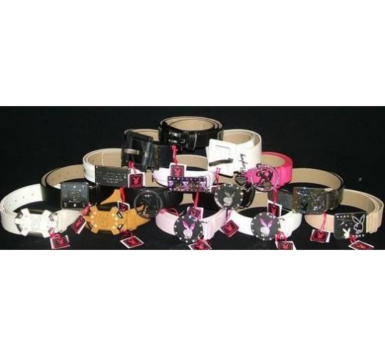 WHOLESALE JOBLOT OF 50 LADIES DESIGNER PLAYBOY MIXED BELTS