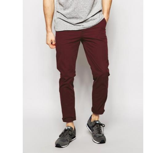 Mens Cotton Trouser Khaki Burgundy Chinos Red and Navy Blue Chinos