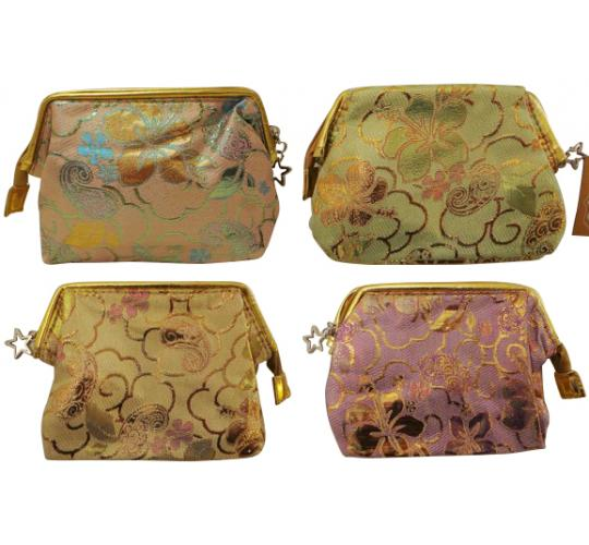 Wholesale Joblot of 20 Madame Posh Ladies Metallic Floral Cosmetic Bags 4Colours
