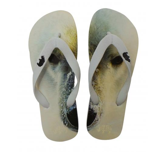 Wholesale Joblot of 100 Beasts Unisex Endangered Animals Polar Bear Flip Flops