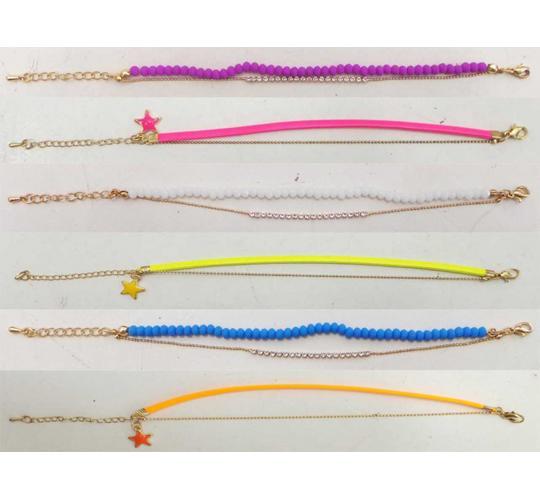 Joblot of 20 Shimla Assorted Bracelets Double Strand Bright Colours SH711-724