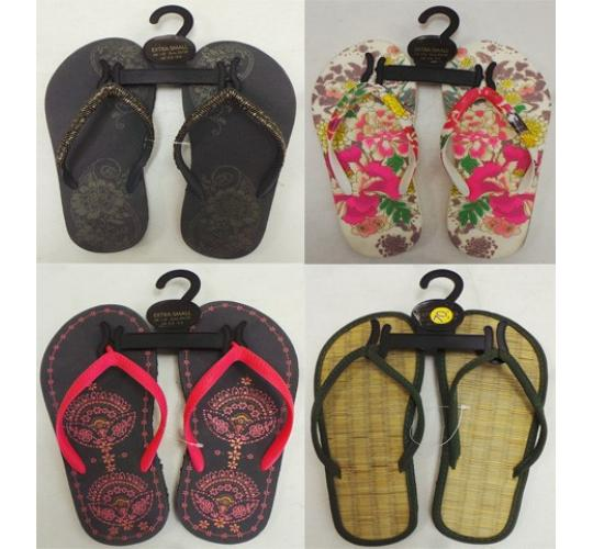One Off Joblot of 47 Ladies Flip Flops Mixture of Styles Sizes 1 & 2