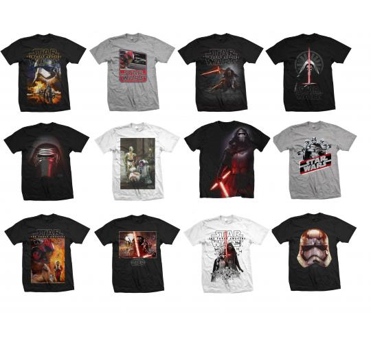 Wholesale Joblot of 50 Mens Official Star Wars T-Shirts Mixed Designs Sizes S-XL