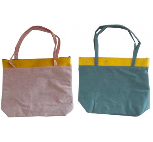 Wholesale Joblot of 40 Ladies Tote Bags Pink/Yellow & Green/Yellow