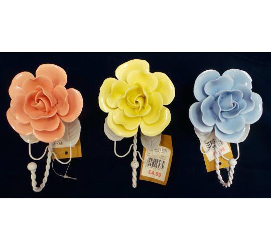 Wholesale Joblot of 48 Madame Posh 'Dianthe' Hanging Flower Hooks 3 Colours