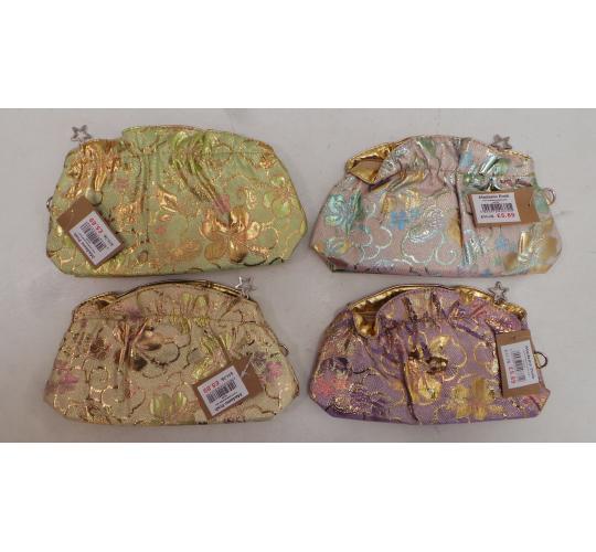 Wholesale Joblot of 20 Madame Posh Ladies Metallic Ruched Hibiscus Cosmetic Bags