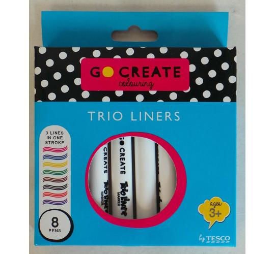 Wholesale Joblot of 192 Ex-High Street Trio Liners Packs of 8