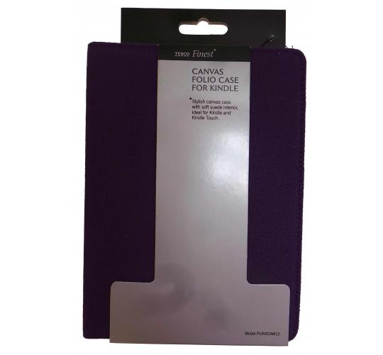 Wholesale Joblot of 40 Ex-High Street Purple Canvas Folio Cases For Kindle