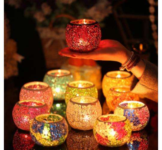 50 x Mosaic Candle Holders