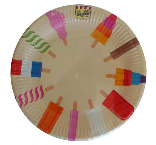 Wholesale Joblot of 96 Table Fun Walls Ice Cream Paper Plates - Packs of 8