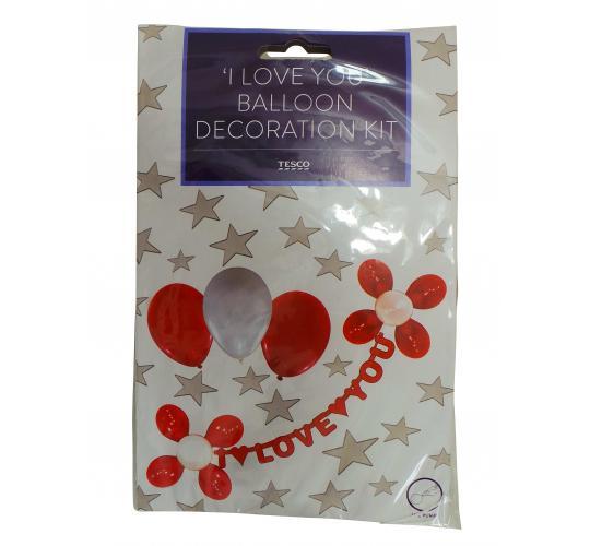 Wholesale Joblot of 100 'I Love You' Balloon & Banner Decoration Kits
