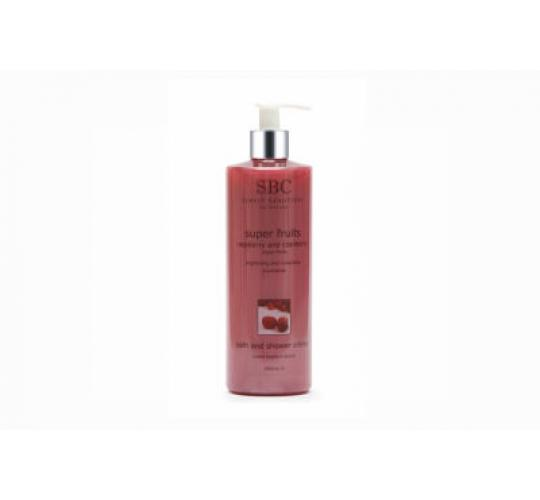 10 SBC SUPERFRUITS RASPBERRY AND CRANBERRY BATH AND SHOWER CREME 500ML