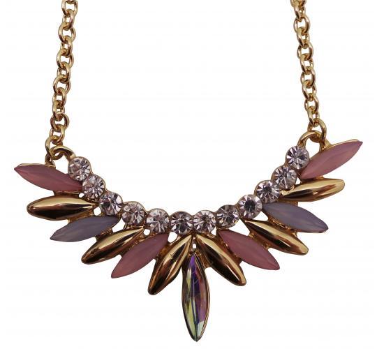 Wholesale Joblot of 20 Designsix Gold Multicoloured Cluster Necklaces