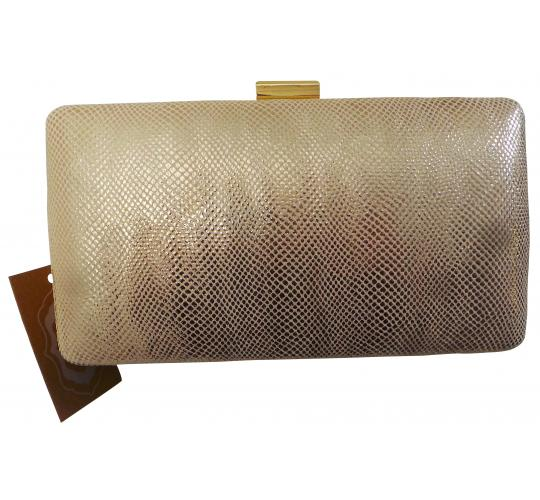 Wholesale Joblot of 10 Madame Posh Pink/Gold Snake Skin Style Clutch Bags 41586