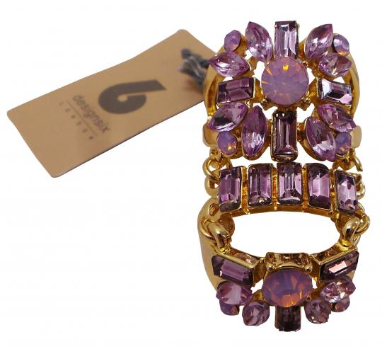 Wholesale Joblot of 20 Designsix Statement Stone Ring Gold/Purple