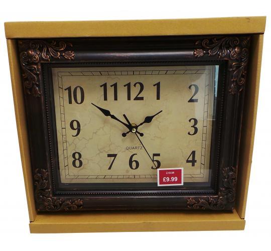 Wholesale Joblot of 20 Madame Posh 'Kailano' Vintage Hanging Clocks 11221