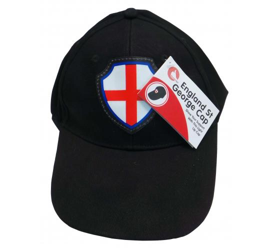 Wholesale Joblot of 80 England St George Light Up Caps - Black