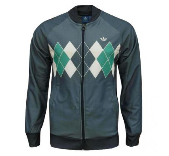 Pack of 10 - adidas Originals Men's Argyle Golf Track Top Jacket Indigo