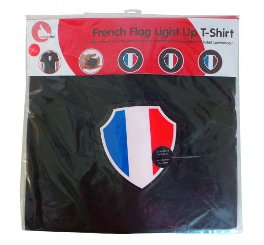 Wholesale Joblot of 25 thumbsUp! Mens French Flag Light Up T-Shirts S-XL