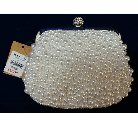 Wholesale Joblot of 5 Madame Posh 'Coco' Faux-Pearl Clutch Bags 41589