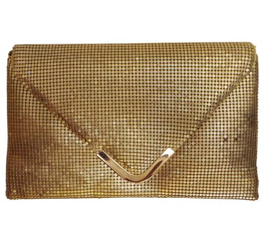 Wholesale Joblot of 5 Madame Posh 'Angela' Gold Clutch Bags 41593