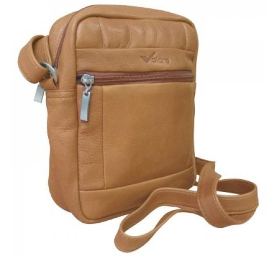 Volare Tanned Genuine Leather Compact Travel Flight Bag
