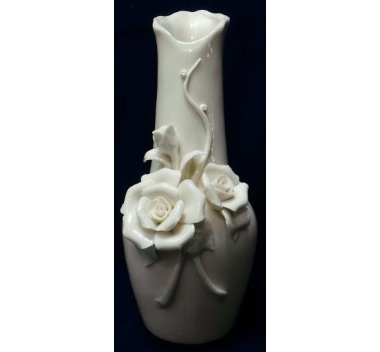One Off Joblot of 10 Madame Posh 'Fabulous' White Flower Vases 40023