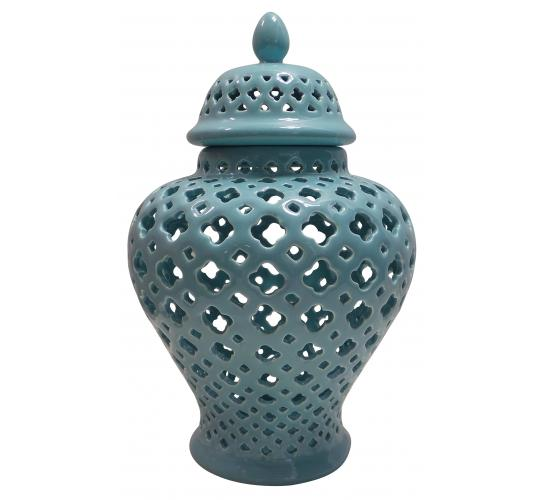 Wholesale Joblot of 4 Madame Posh 'Abira' Carved Lattice Decorative Urn 40589