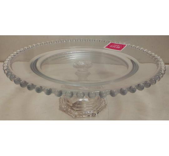 One Off Joblot of 7 Madame Posh 'Teague' Glass Cake Stands 11747