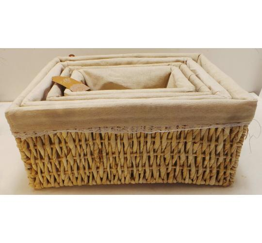 Wholesale Joblot of 16 Madame Posh Cream White Basket Storage Units 4 Sizes
