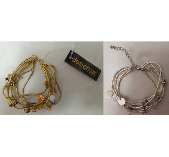 Wholesale Joblot of 20 DesignSix Metropolitan Bracelets Gold & Silver 11373