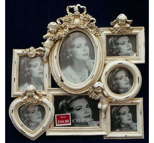 One Off Joblot of 5 Madame Posh 'Audrey' 7 Picture Photo Frames 11033
