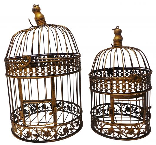 One Off Joblot of 14 Madame Posh 'Oasis' Decorative Cages 2 Sizes